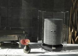 Haube aus Acrylglas für 40 Teller, geschlossen
