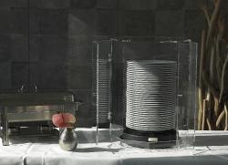 Haube aus Acrylglas für 40 Teller, offen